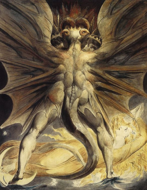The Red Dragon and the Woman Clothed in Sun, William Blake
