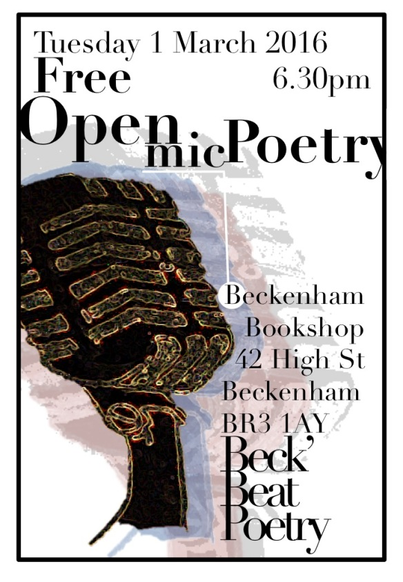 the first open mic poster